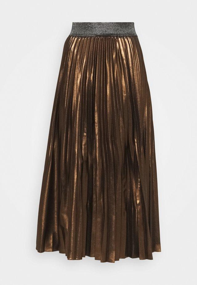 BOBOLI - Jupe longue - bronzo