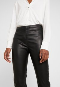 InWear - CEDAR PANT - Leather trousers - black - 4