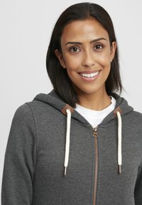 Oxmo - VICKY  - Zip-up hoodie - dar grey m - 3
