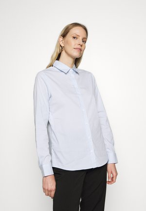 LANGARM - Button-down blouse - blue