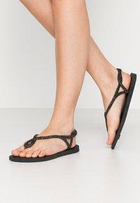 Havaianas - LUNA PREMIUM - Sandaler m/ tåsplit - black - 0