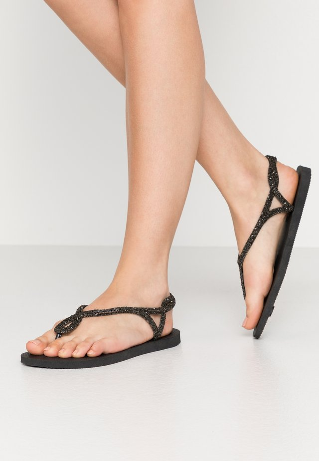 LUNA PREMIUM - T-bar sandals - black