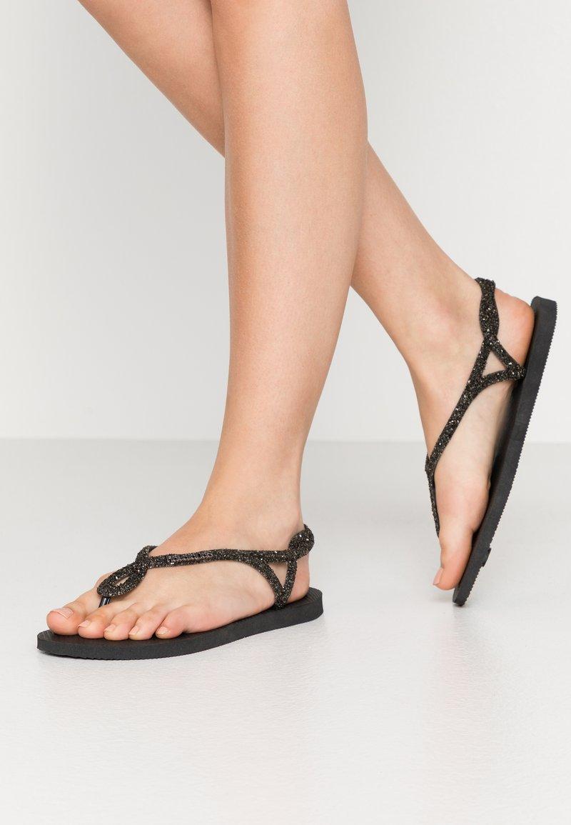 Havaianas - LUNA PREMIUM - Sandaler m/ tåsplit - black