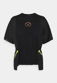 KARL LAGERFELD - MIX LOGO - Print T-shirt - black - 0