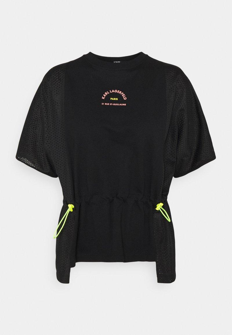KARL LAGERFELD - MIX LOGO - Print T-shirt - black