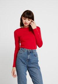 Petit Bateau - Long sleeved top - dark red - 0