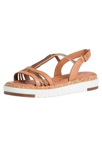Tamaris - Platform sandals - nut/bronce - 2