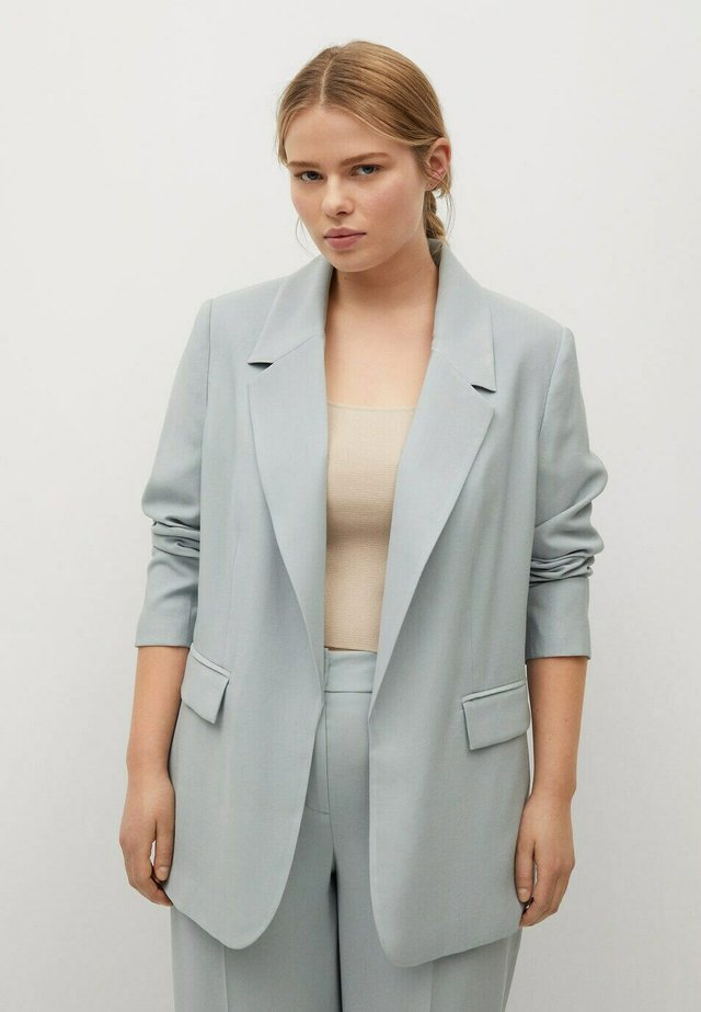 Short coat - azul celeste