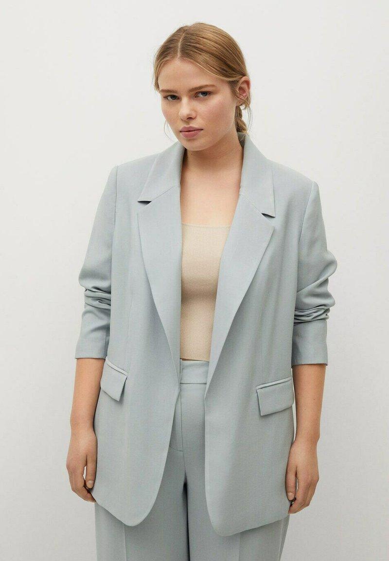 Violeta by Mango - Short coat - azul celeste