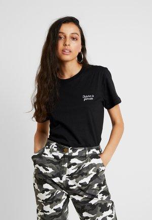 MYSEN FUTURE IS FEMALE - Print T-shirt - black