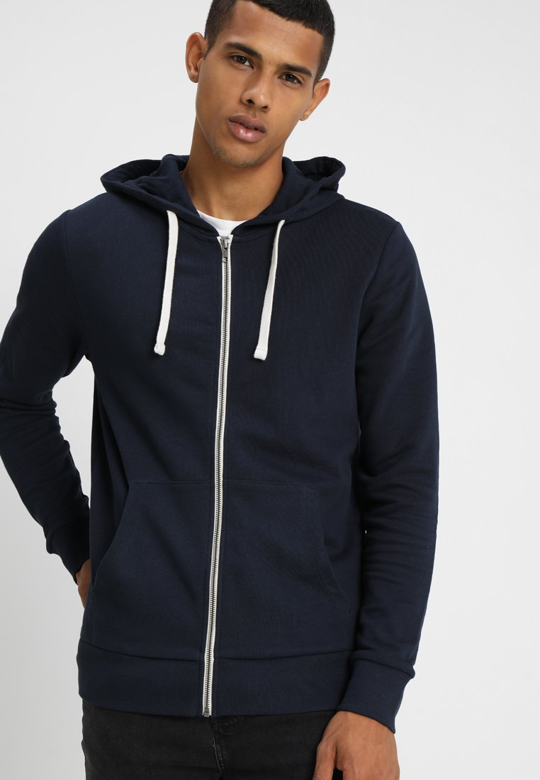 Jack & Jones - JJEHOLMEN - veste en sweat zippée - navy blazer