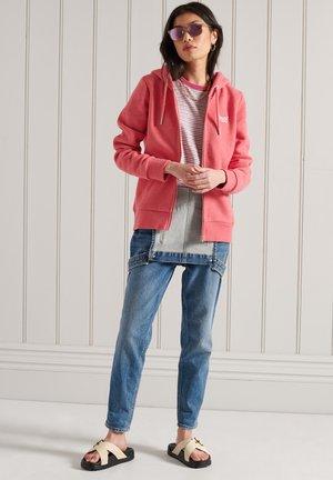 ORANGE LABEL - Zip-up sweatshirt - coral marl