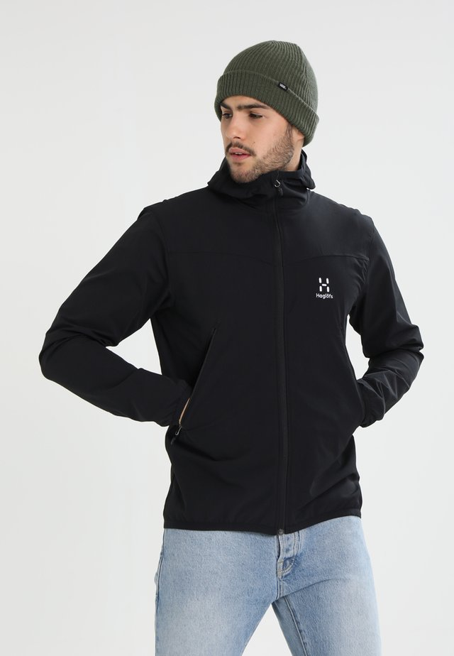 NATRIX HOOD MEN - Softshelljacka - true black