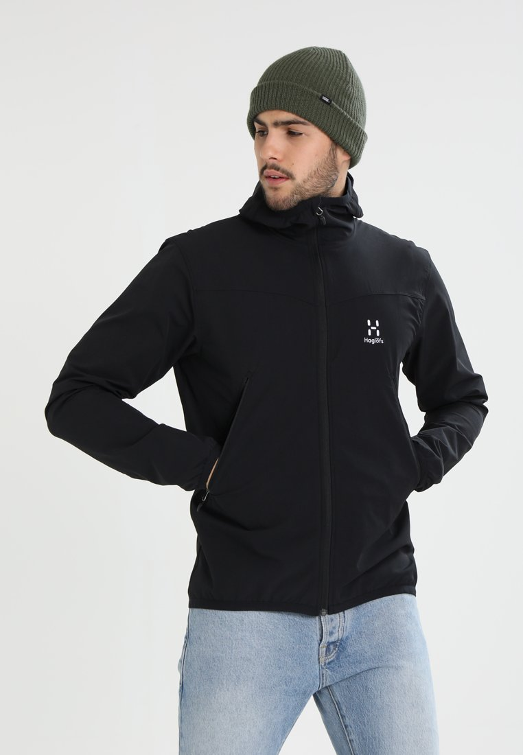 Haglöfs - NATRIX HOOD MEN - Soft shell jacket - true black