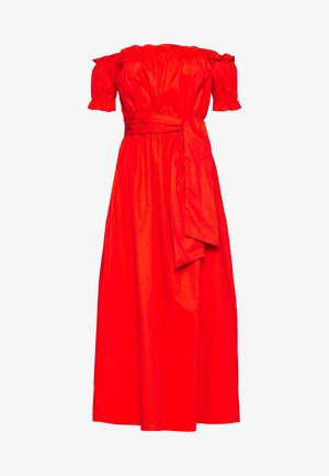 BARDOT DRESS WITH TIE DETAIL - Vestido largo - orange