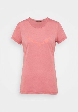 SOLID DRY - Print T-shirt - mauvemood melange