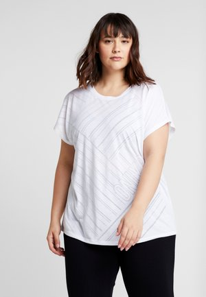 ONPJONI LOOSE BURNOUT TEE  - T-shirts med print - white