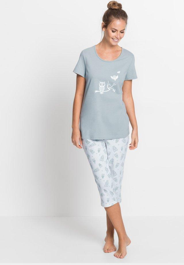 MIT KURZEN ÄRMELN - Pyjama - silber