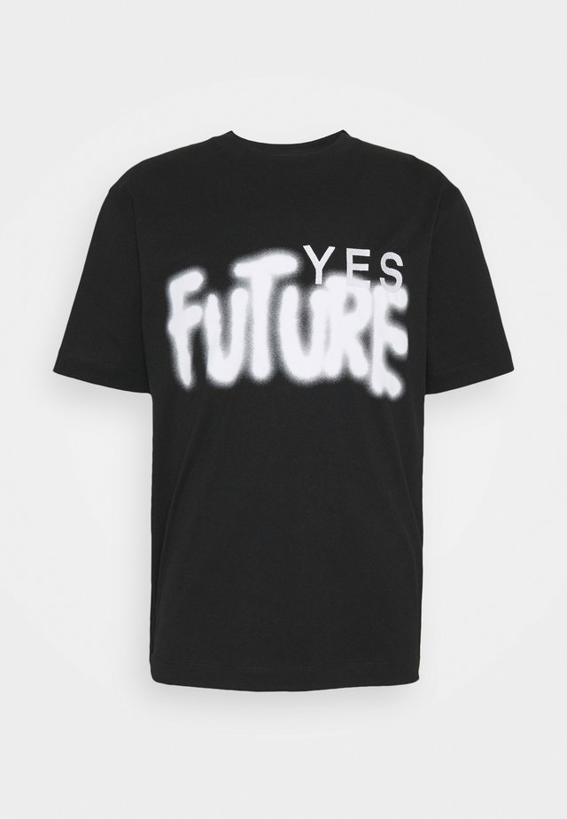 YES FUTURE UNISEX - T-shirt con stampa - black