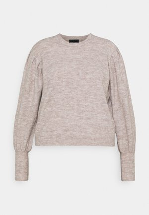 PCPAM O NECK - Jumper - warm taupe