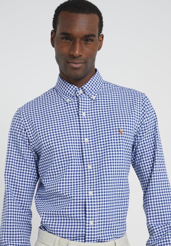 Polo Ralph Lauren SLIM FIT - Koszula - blue/white/granatowy Odzież Męska BUVO