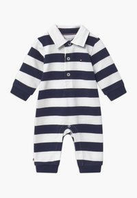 Tommy Hilfiger - BABY RUGBY STRIPE COVERALL - Combinaison - blue - 0