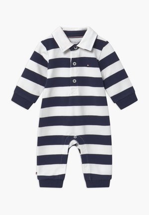 BABY RUGBY STRIPE COVERALL - Combinaison - blue