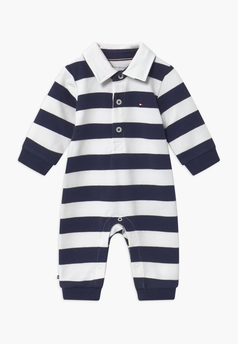 Tommy Hilfiger - BABY RUGBY STRIPE COVERALL - Combinaison - blue