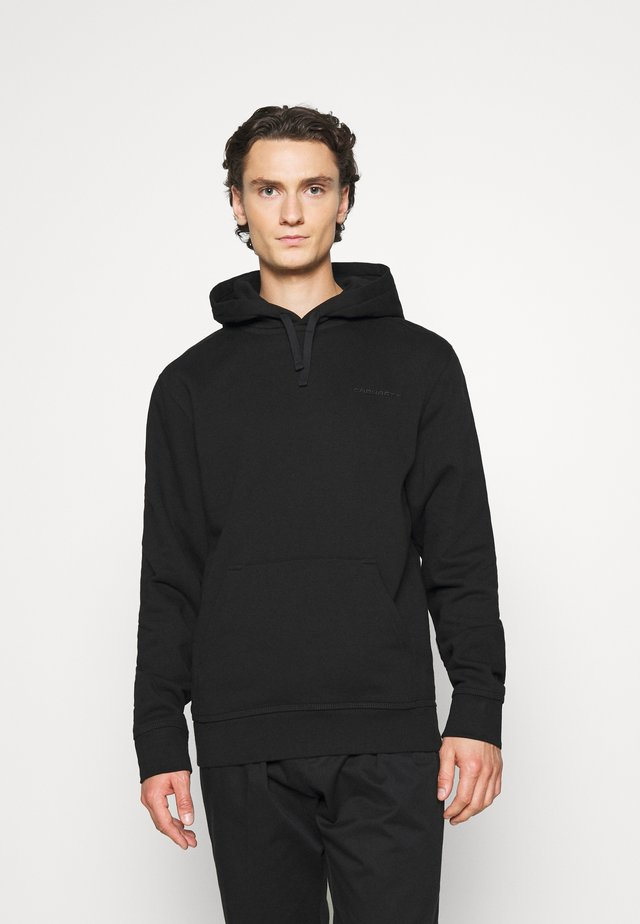 HOODED ASHLAND - Felpa con cappuccio - black