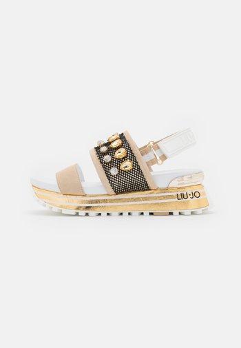 MAXI - Platform sandals - gold