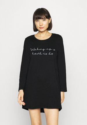 NIGHTIE R NECK WAKING - Nightie - black