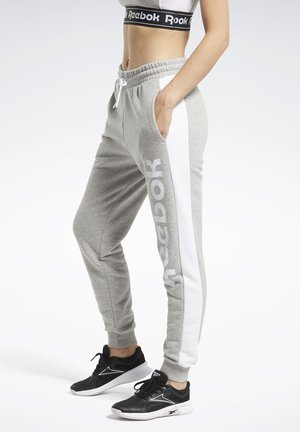TRAINING ESSENTIALS LINEAR LOGO JOGGERS - Pantalon de survêtement - grey