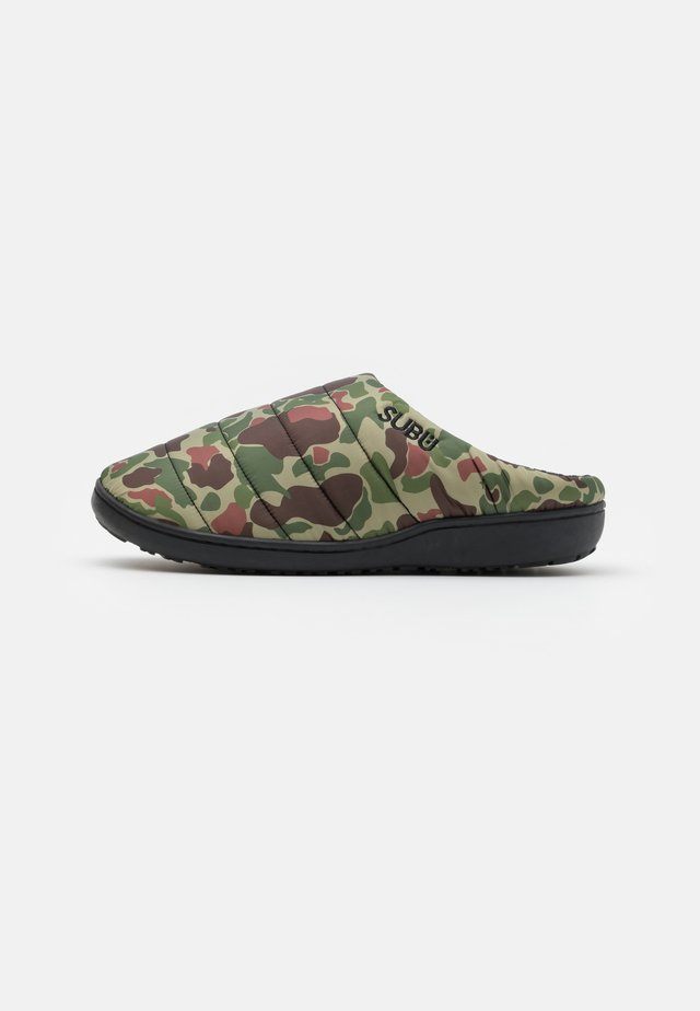 SUBU SLIP ON - Pantofle - olive/beige