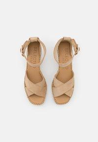 Selected Femme - SLFESTHER WEDGE  - Platform sandals - nude - 5