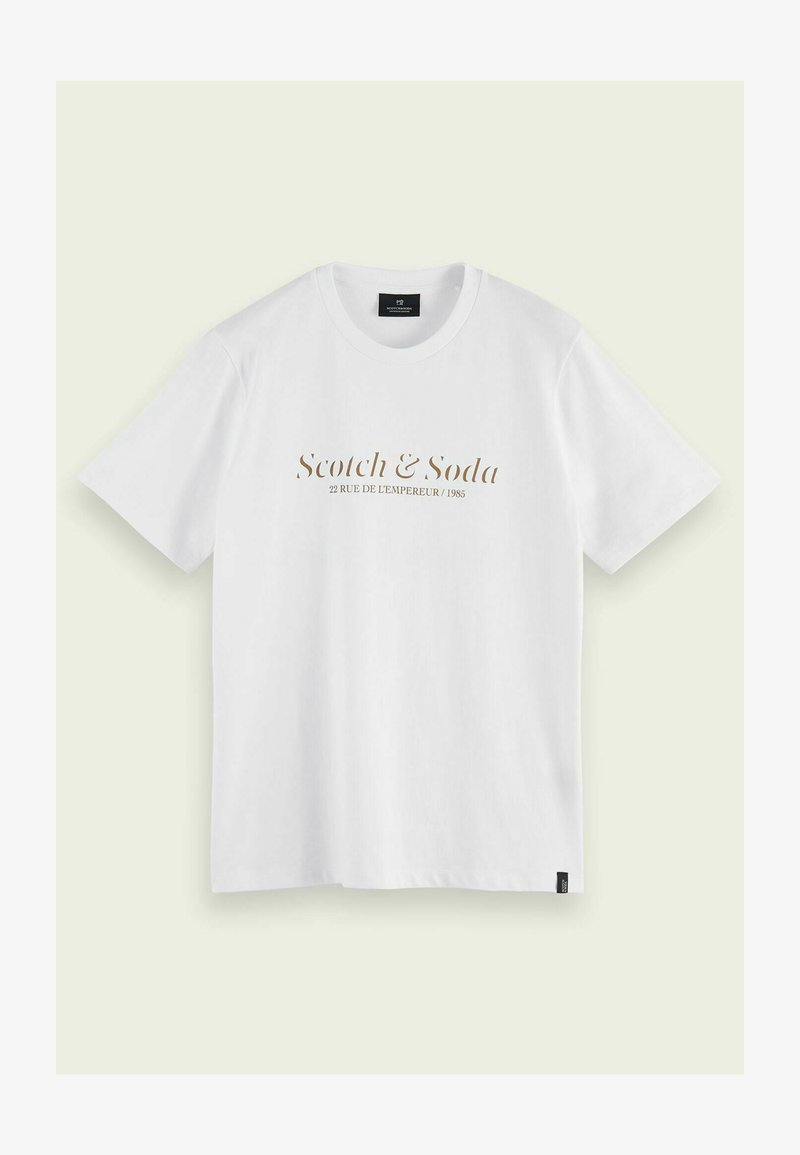 Scotch & Soda - LOGO ARTWORK  - Print T-shirt - white