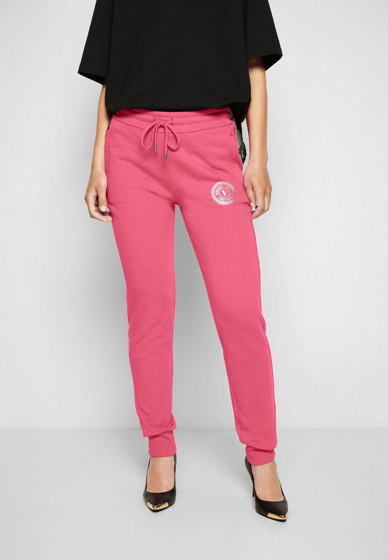 Versace Jeans Couture - PANTS - Tracksuit bottoms - pink
