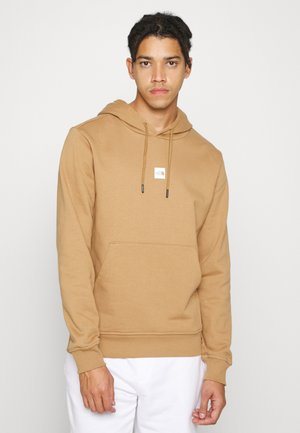 CENTRAL LOGO HOODIE - Sweatshirt - utility brown/white