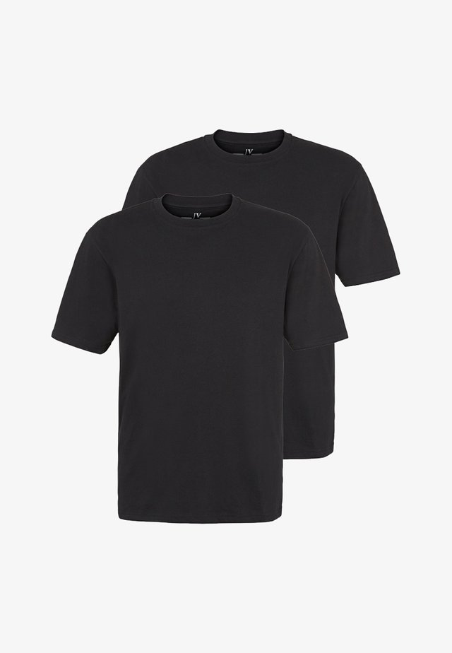 ERKE 2PACK - Basic T-shirt - black