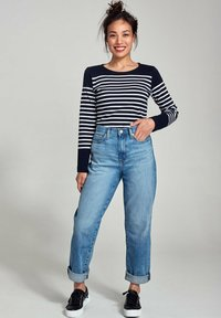 Armor lux - AMIRAL MARINIÈRE - Long sleeved top - rich navy blanc - 1