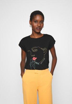 SRGIRL - T-shirt con stampa - black