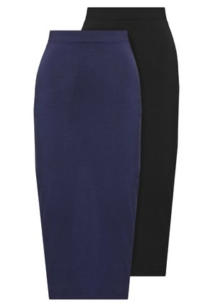 2 PACK - Pencil skirt - dark blue/black