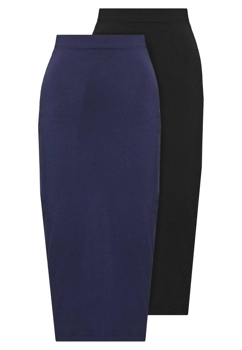 Even&Odd Tall - 2 PACK - Pencil skirt - dark blue/black