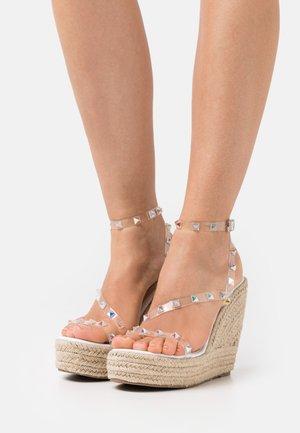 RENNA - Platform sandals - clear
