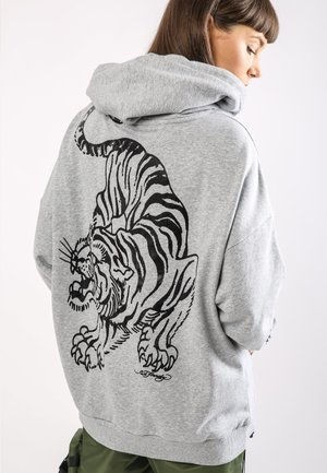 TIGER-GIANT POUCH HOODY - Jersey con capucha - grey