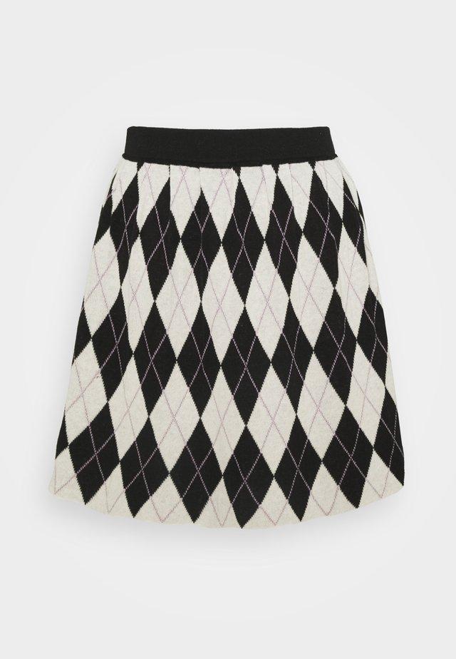 YANNI SKIRT - Spódnica trapezowa - black
