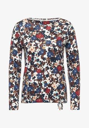 MIT BLUMEN  - Långärmad tröja - weiß