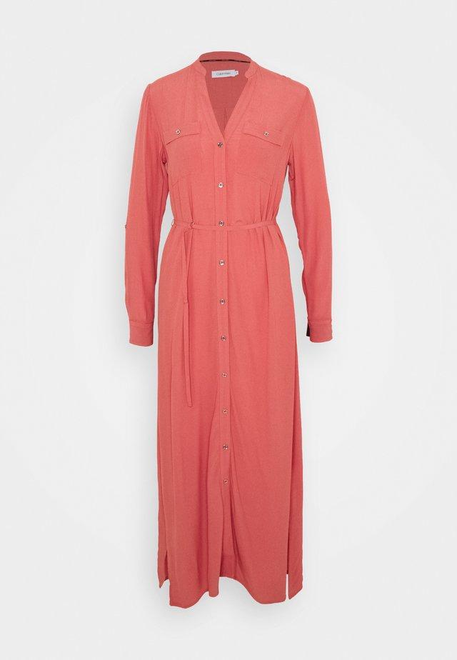 V NECK DRESS - Maxi dress - antique pink