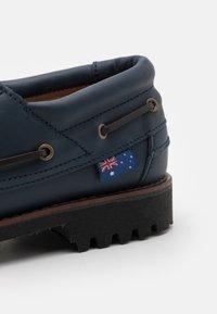 Blue Heeler - FENDER UNISEX - Boat shoes - navy - 5