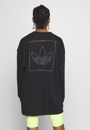 FAKTEN LONG SWEATER LONG SLEEVE PULLOVER - Sweatshirt - black