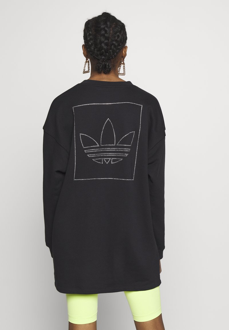 adidas Originals - FAKTEN LONG SWEATER LONG SLEEVE PULLOVER - Sweatshirt - black